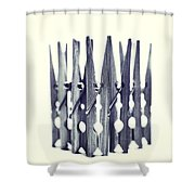 Clothespin Shower Curtain