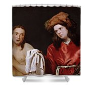 Clothing The Naked Shower Curtain