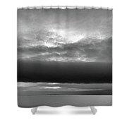Cloud Above Lake Simcoe Bw  Shower Curtain