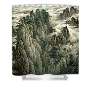 Cloud And Mountain Peak Shower Curtain