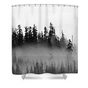 Cloud And Trees  Shower Curtain
