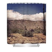 Cloud Blankets Over Joshua Tree Shower Curtain