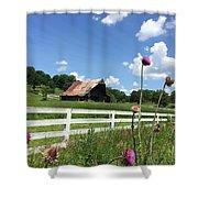 Cloud Blossoms Shower Curtain