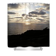 Cloud Break Sunset At  State Natural Reserve In San Diego Shower Curtain