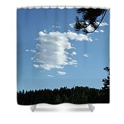 Cloud Busting Shower Curtain