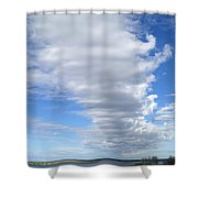 Cloud By Day Shower Curtain