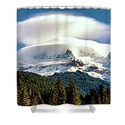 Cloud Capped Mount Hood Shower Curtain