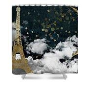 Cloud Cities Paris Shower Curtain
