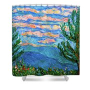 Cloud Color Shower Curtain