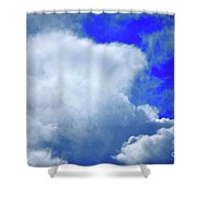 Cloud Commotion Shower Curtain