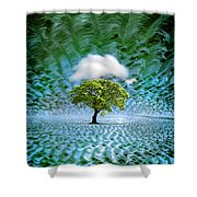 Cloud Cover Recurring Shower Curtain