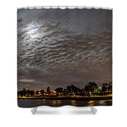 Cloud Covered Moon Shower Curtain