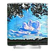 Cloud Creative Shower Curtain