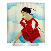 Cloud Dancing Of The Sky Warrior Shower Curtain
