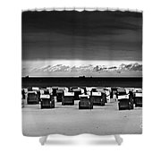 Cloud Drama Before The Storm Shower Curtain by Silva Wischeropp