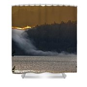 Cloud Fall On Crescent Lake Shower Curtain