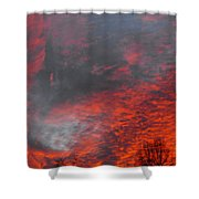 Cloud Fire With Rays Shower Curtain