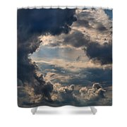 Cloud Formations Boiling Up Shower Curtain