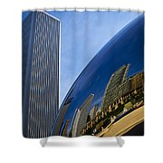 Cloud Gate And Aon Center Shower Curtain