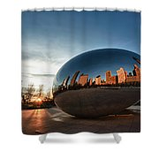 Cloud Gate At Sunrise Shower Curtain