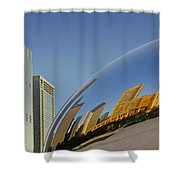 Cloud Gate - Reflection - Chicago Shower Curtain