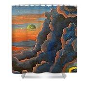 Cloud Gods Shower Curtain