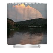 Cloud Lake Reflection Shower Curtain