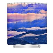 Cloud Layers At Sunset Shower Curtain
