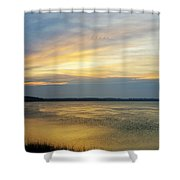 Cloud Letters Shower Curtain