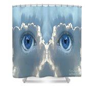 Cloud Mask Shower Curtain