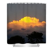 Cloud Of Sun Over Chaparral Lake Shower Curtain