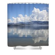 Cloud Reflection On Priest Lake Shower Curtain