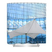 Cloud Reflections - Revel Hotel Shower Curtain