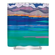 Cloud Sea View Shower Curtain