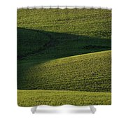 Cloud Shadows On New Growing Crop Shower Curtain