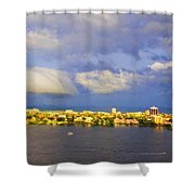 Cloud Shelf  Shower Curtain