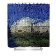 Cloud Silo Shower Curtain