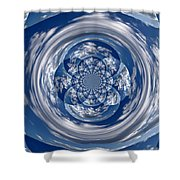 Cloud Spiral Shower Curtain