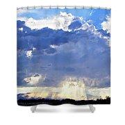 Cloud Storm On The Horizon Shower Curtain