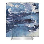 Cloud Study Shower Curtain
