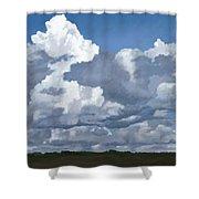 Cloud Study Shower Curtain