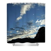 Cloud Sweep And Silhouette Shower Curtain