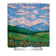Cloud Swirl Over The Peaks Of Otter Shower Curtain