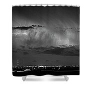 Cloud To Cloud Lightning Boulder County Colorado Bw Shower Curtain
