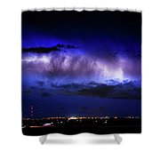 Cloud To Cloud Lightning Boulder County Colorado Shower Curtain