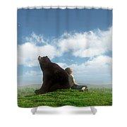 Cloud Watchers Shower Curtain