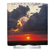 Cloud Woofie Shower Curtain
