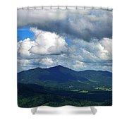Clouded Landscape Shower Curtain
