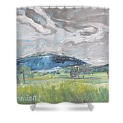 Clouded Sky Over Woburn Quebec Canada Shower Curtain