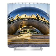 Cloudgate In Chicago Shower Curtain